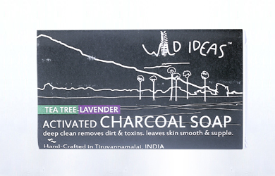 Activated Charcoal Soap with Lavender and Tea Tree