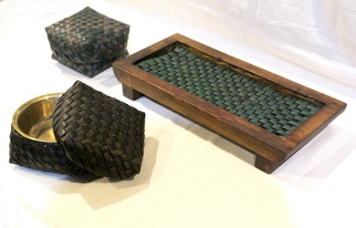 Coffee Table Serving Set With Wooden Tray