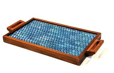 Vazhaipoo Weave Medium Pearl Tray