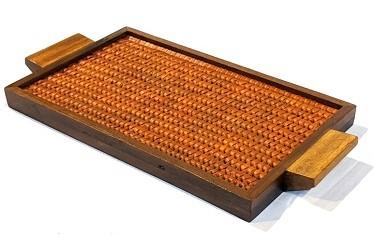 Vazhaipoo Weave Small Pearl Tray