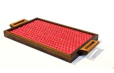 Vazhaipoo Weave Large Pearl Tray